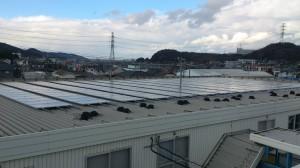 重ね式折板屋根設置・金具固定・工場②